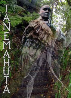 Tanemahuta - God of the Forest In Maori mythology, Tane is the god of forests and of birds, and the son of Ranginui and Papatuanuku, the sky father and . Kauri Tree, Maori People, Maori Designs, Maori Art, Kiwiana, All Blacks, All Things New, New Zealand, Mythology