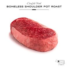 The Sterling Silver® Shoulder Pot Roast (also known as English roast or beef clod) is from the chuck section of the animal and is located right behind the arm roast. Shoulder pot roasts may be tenderized by cooking in liquid for hours. | Sterling Silver Premium Meats