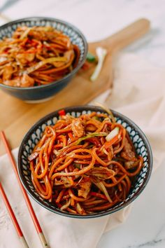 This chicken lo mein recipe is surprisingly easy to make at home, and it actually tastes a lot better than what you can get at most takeout restaurants.