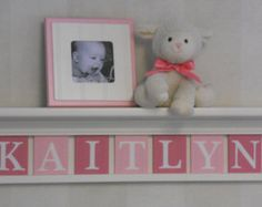 Gray and Pink Pastel Pink Baby Girl Nursery Decor by NelsonsGifts