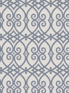 Gatework print pattern 02616 in Indigo from the Jaclyn Smith Home - Volume III collection for Trend.