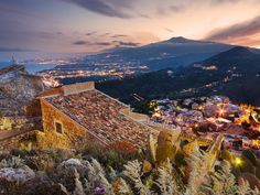 You'd be hard pressed to find a seaside town in Italy that doesn't inspire romance, but there's something especially dreamy about Taormina, a clifftop town on the island of Sicily. The views of Mount Etna and the Ionian Sea hypnotize, and the ancient ruins and cafe-lined streets keep you occupied. But you could check into honeymoon-worthy Belmond Grand Hotel Timeo—one of our favorite hotels in the world—and never leave the room.