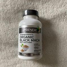 Black Maca, Maca Root Powder, How To Increase Energy, Pills, Organic, Vegan, Pure Products, Bottle, Health
