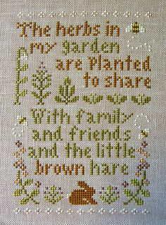 thedruidsteaparty:  herb garden by kunderwood {stitchy stitcherson} on Flickr.