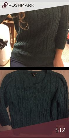 H&M Green Sweater Basic sweater from H&M. Only worn a few times, great condition :) H&M Sweaters Crew & Scoop Necks