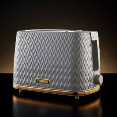 Buy Tower T20054GRY Empire Textured 2 Slice Toaster - Grey | Toasters | Argos Black Toaster, Cord Storage, Argos, Cool Stuff, Stuff To Buy, Pattern Design, Empire, Toasters, Tower