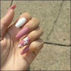 Best Coffin Nail & Gel Nail Designs For Summer & Fall 2019 - Best Coffi. - Best Coffin Nail & Gel Nail Designs For Summer & Fall 2019 – Best Coffin Nail & Gel Nail - White Acrylic Nails, Summer Acrylic Nails, Best Acrylic Nails, Acrylic Nail Art, Nail Summer, Acrylic Nail Designs For Summer, Nail Swag, Gel Nagel Design, Fire Nails