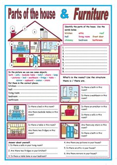 A collection of English ESL worksheets for home learning, online practice, distance learning and English classes to teach about house, house English Teaching Materials, English Teaching Resources, English Grammar Worksheets, Grammar Book, English Activities, Vocabulary Worksheets, Worksheets For Kids, English Vocabulary, Food Vocabulary