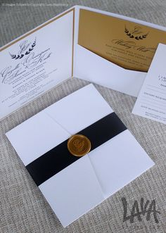 #WaxSeal #Pocket #Invitation by www.lavastationery.com.au
