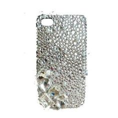 Amazon.com: LUXURY 3d Handmade Crystal & Rhinestone Iphone 4 case/cover w/HUGE Stones & Gems by Jersey Bling: Cell Phones & Accessories