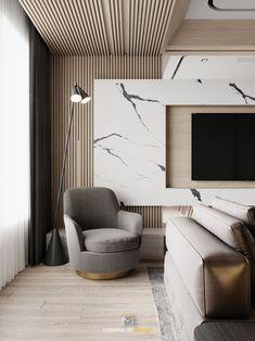 Modern Interior Design, Interior Design Inspiration, Living Room Interior, Living Room Decor, Living Rooms, Living Room Tv Unit Designs, Tv Wall Design, Suites, Modern Bedroom