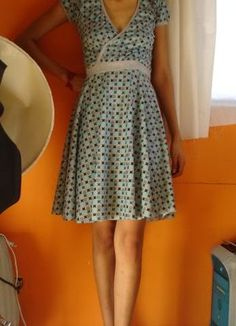 Circles and dots blue & blue dress !! Now with tutorial - CLOTHING
