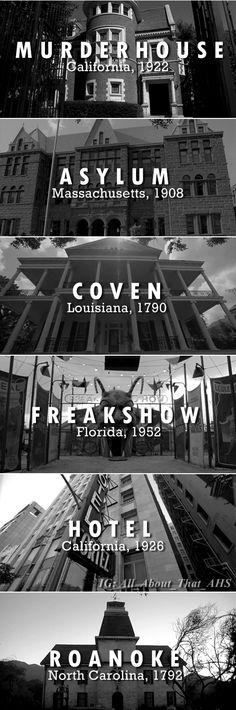 AmericanHorrorStory American Horror Story Murder House MurderHouse Asylum Coven Freak Show FreakShow Hotel ?6 Roanoke