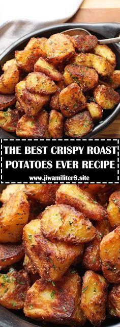 Crispy Roast Potatoes Ever Vegetable Side Dishes, Vegetable Recipes, Vegetarian Recipes, Cooking Recipes, Healthy Recipes, Easy Recipes, Crispy Roast Potatoes, Best Potatoes For Roasting, Chicken