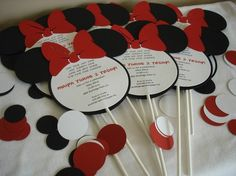 Minnie Mouse Boutique Invitations | Disneyland Party on the Road | thegalagals