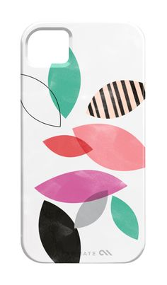 iPhone 4 or 5 case - Pastel Leaves. $39.00, via Etsy.