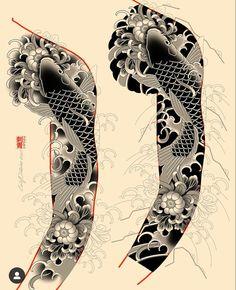 Traditional Japanese Tattoo Sleeve, Japanese Tattoo Art, Japanese Tattoo Designs, Japanese Sleeve Tattoos, Star Sleeve Tattoo, Full Sleeve Tattoos, Arm Tattoo, Full Hand Tattoo, Hand Tattoos