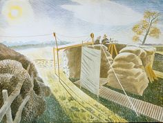 The Higgins Art Gallery & Museum, Bedford: Picture of the Week - Eric Ravilious - Observer's Post Landscape Art, Landscape Paintings, Landscapes, Dulwich Picture Gallery, Pictures Of The Week, Graphic Art, Art Gallery, England, Wall Art