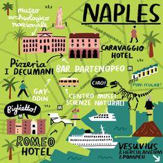 Fuchsia MacAree - Naples map for Cara Magazine