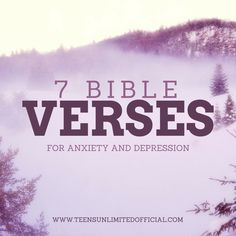 7 Bible Verses For Anxiety And Depression