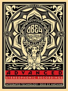 ☯☮ॐ American Hippie Psychedelic Art ~ Stereo - OBEY Shepard Fairey street artist . . revolution OBEY style, street graffiti, illustration and design posters.
