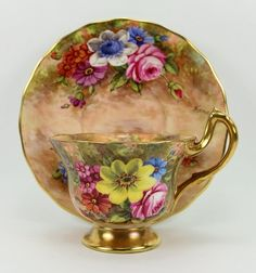 RW Floral Cup & Saucer by J.Freeman @ 瓷海無涯 :: 隨意窩 Xuite日誌