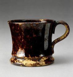 Rockinghamware mug, ca. 1844-58 | The Museum of Fine Arts, Houston