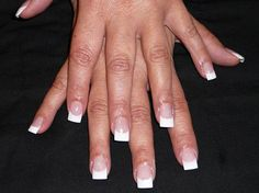 french tip nail | French Tips Acrylic Nails Image