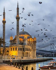 Ortaköy mosque , Istanbul, Turkey / by bus khaled ( Hazem Al Jarallah ) Istanbul City, Istanbul Travel, Places To Travel, Places To See, Travel Destinations, Beautiful Mosques, Beautiful Places, Turkey Photos, Mekka