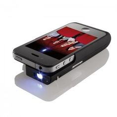 One of Tom's favorite travel gadgets comes from Brookstone - a projector for your Iphone. Iphone Projector, Movie Projector, Pico Projector, Small Projector, Projector Wall, Portable Projector, Gadgets And Gizmos, Tech Gadgets, Cool Gadgets