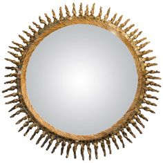 Line Vautrin Exceptional Convex Mirror   From a unique collection of antique and modern convex mirrors at https://www.1stdibs.com/furniture/mirrors/convex-mirrors/