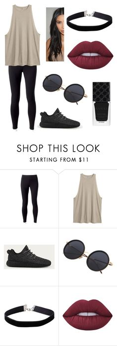 """""""Untitled #304"""" by fashion-with-dudette on Polyvore featuring Jockey, adidas, Miss Selfridge, Lime Crime and Gucci"""