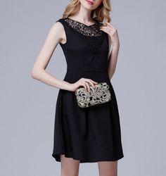 Elegance Slim Lace Joint Dress LAVELIQ