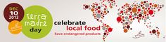 December 10 is Terra Madre Day - Celebrate eating locally Slow Food, Lokal, December 12, Worms, Eat, Celebrities, Blog, The World, Roots