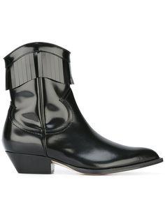 3afa9ca4679 Philosophy Di Lorenzo Serafini Varnished Fringe Cowboy Boots - Farfetch