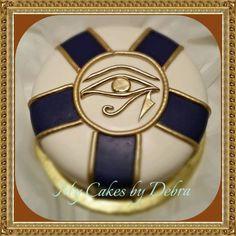 Egyptian Eye Theme Birthday Cake