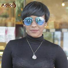 Adiors Hair Synthetic Full Bang Short Straight Wigs