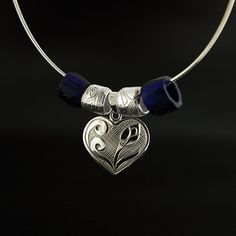 Sharifah Marsden, Sterling Silver Heart Pendant, Northwest Coast Native Art