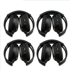 (38.03$)  Buy here - http://airhs.worlditems.win/all/product.php?id=32788900112 - HQ 4PCS IR Wireless Headphones Headsets for Car DVD Player L Flip Down&Headrest