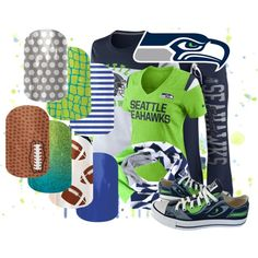 Designer Clothes, Shoes & Bags for Women Seahawks Nails, Football Nails, Jamberry Wraps, Jamberry Nails, Jamberry Sports, Go Blue, Blue Green, 12th Man, Seattle Seahawks