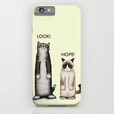 Look!-Nope iPhone & iPod Case by Tummeow