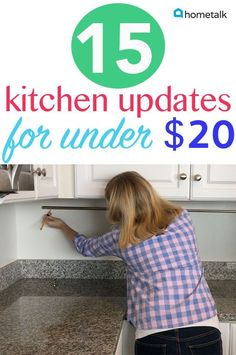 Kitchen Decorating You don't have to break the bank to get these great kitchen updates! Kitchen decor Hometalk Partner - You don't have to break the bank to get these great kitchen updates! Diy Kitchen Decor, Diy Home Decor, Kitchen Ideas, Kitchen Post, Kitchen Tables, Kitchen Hacks, Kitchen Cabinets, Cheap Kitchen, Awesome Kitchen