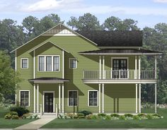 <div><ul><li>A beautiful covered porch wraps around the huge combined family room/dining area in this Traditional house plan.</li><li>The L-shaped living area also includes the front parlor and the beautiful kitchen with its big island.</li><li>A bayed area in the kitchen forms a breakfast eating nook.</li><li>The first floor guest suite is the only bedroom on this floor.</li><li>On the second floor, the deluxe master suite stretches across the entire front of the house and comes with a…