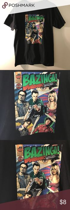 Big Bang Theory T-Shirt HELLO EVERYONE, I AM OFFERING AN AWESOME  Big Bang Theory T-Shirt   This Big Bang Theory T-Shirt is In Good Condition. Size is L    Please SEE THE PICTURES FOR MORE DETAIL     Thanks For looking   ALL ITEMS WILL BE PACKED SECURELY, Shirts Tees - Short Sleeve