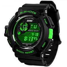 Happy Digital® Sports Watches Military Watch 50m Waterproof Men Sport Digital Quartz Wrstwatches - www.the-solar-sho... Electronics - Wearable Technology - Clips, Arm & Wristbands - Women's Smart Watches for Sport - http://amzn.to/2kHNvw9