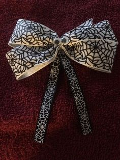 White Spider Hair Bow by HelgasHairBowDesigns on Etsy