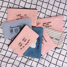 QUICK DIY IDEA: just get a simple canvas zipper pouch and doodle cute tumblr pics on it with a sharpie!(You can also have fun with different colours too) Definitely adds a bit of aesthetic beauty to the bag that can be used as a make-up or pencil container:)