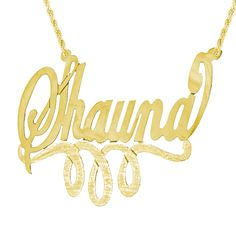 PRZ0064-GPSS: Sterling Silver with 24 Karat Gold Plating Personalized Monogram