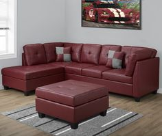 Shop Monarch Specialties Bonded Leather Sectional Sofa at Lowe's Canada. Find our selection of sectional sofas at the lowest price guaranteed with price match. Sectional Sofa Sale, Leather Sectional, Couch, Family Room Furniture, Sofa Furniture, Furniture Design, Best Sectionals, Bonded Leather, Upholstery
