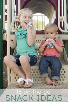 Great list of healthy, portable snack ideas. Fruit Squeezers are always a hit! Pin sponsored by Del Monte.